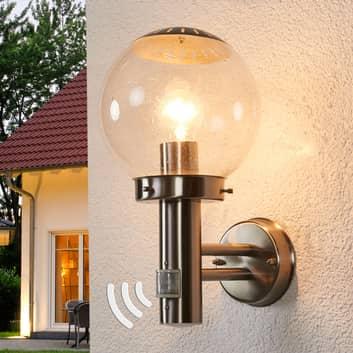Venkovní nástěnné svítidlo Bowle s hlásičem pohybu