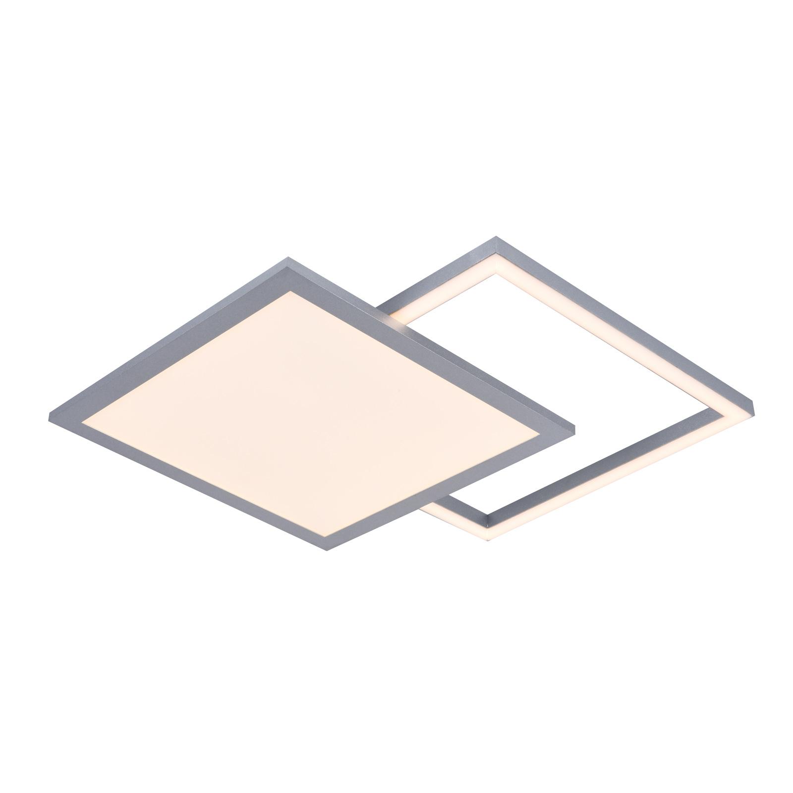 Lucande Senan lampa sufitowa LED, kwadraty