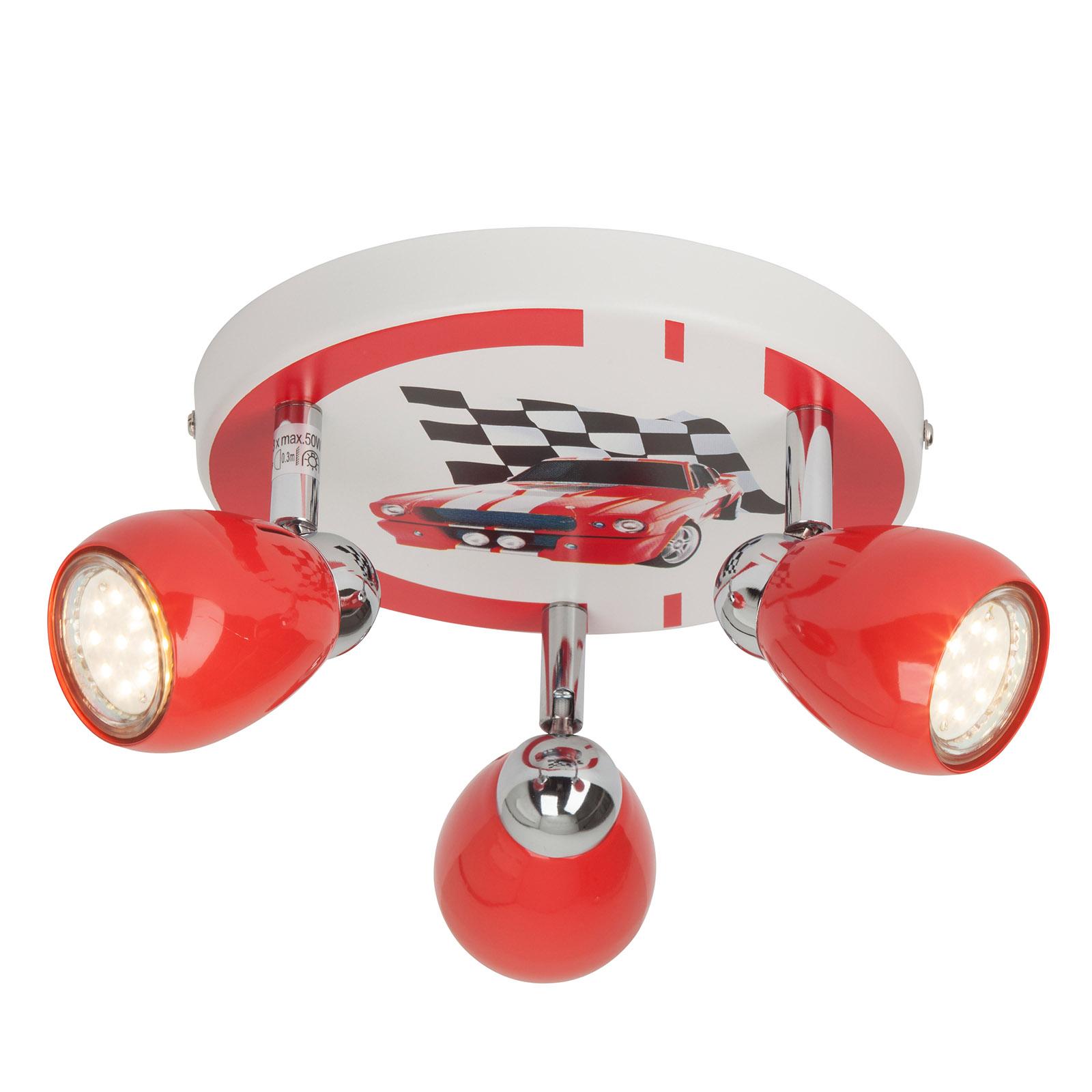 LED-Deckenleuchte Racing dreiflammig