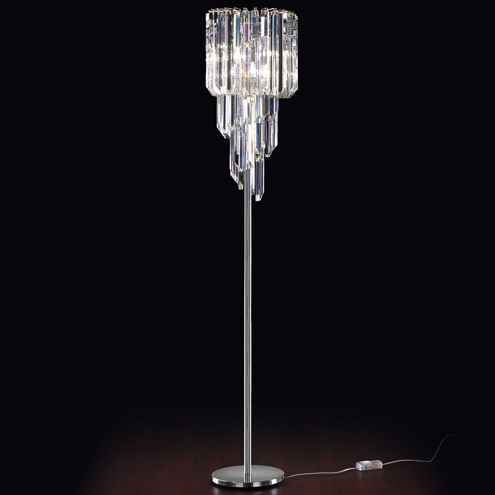 CRISTALLI lampa stojąca ze szlach. szkłem Murano