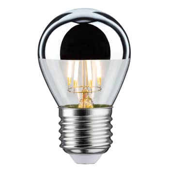 LED-pære E27 dråpe 827 toppforspeilet 4,8 W dimbar