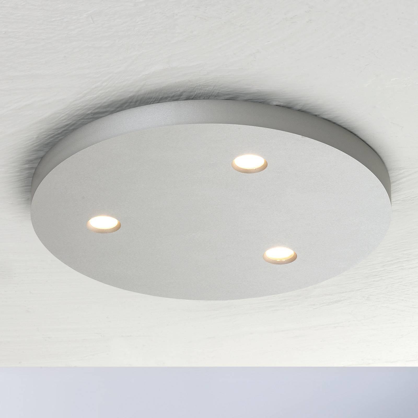 Bopp Close LED plafondlamp 3-lamps rond alu