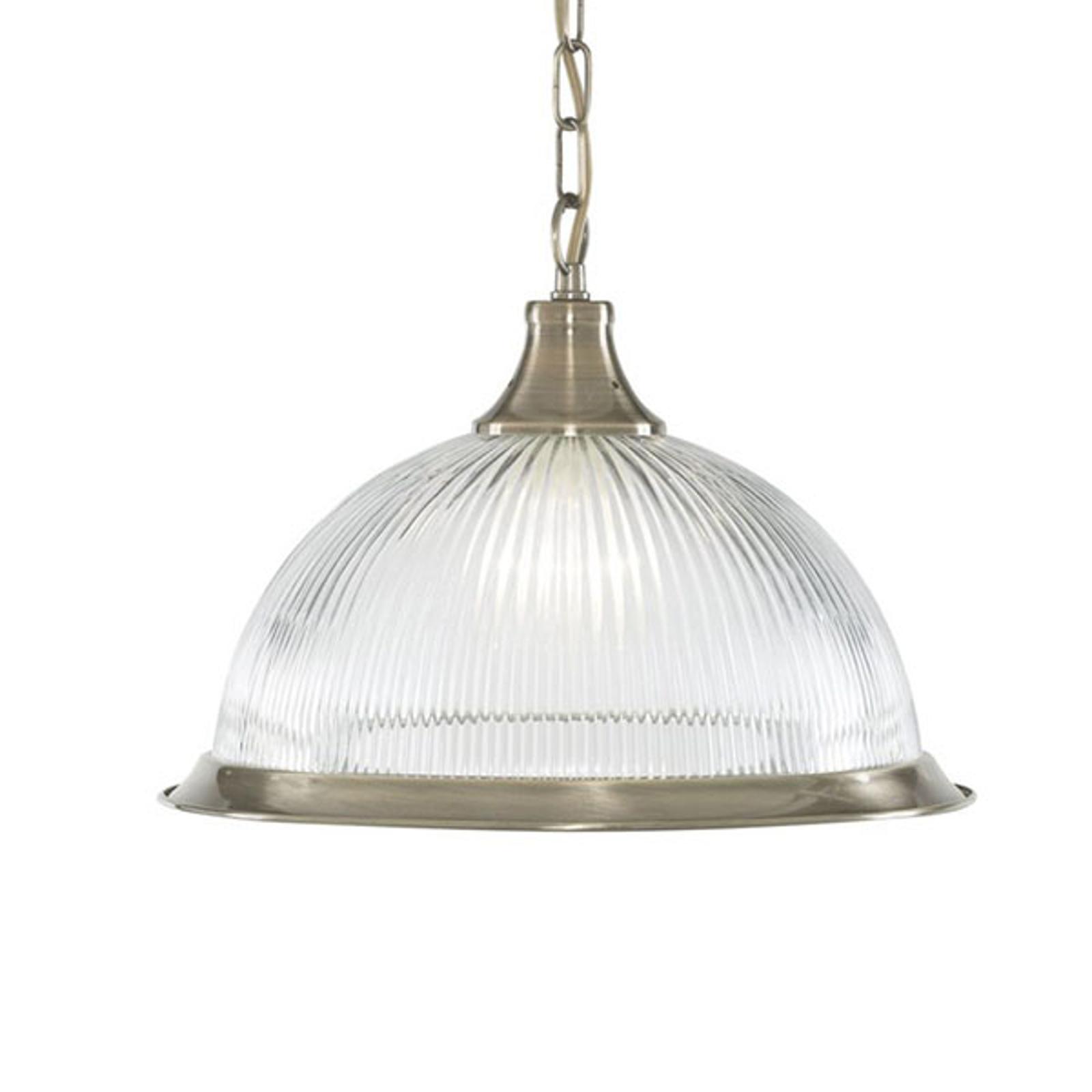 Lampa wisząca American Diner, 1-pkt. mosiądz