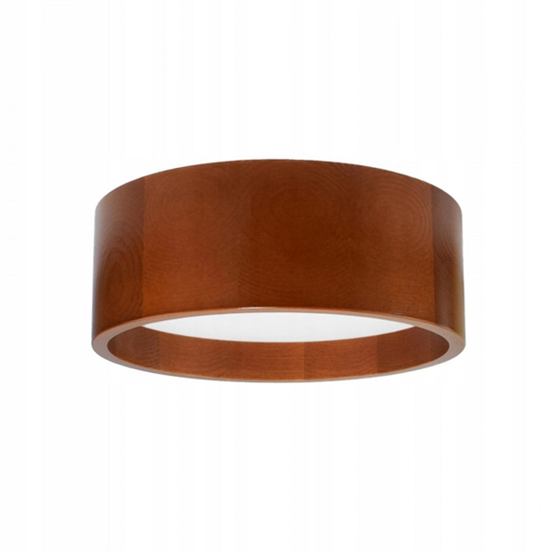LED-Deckenleuchte Deep, Ø 28 cm, braun