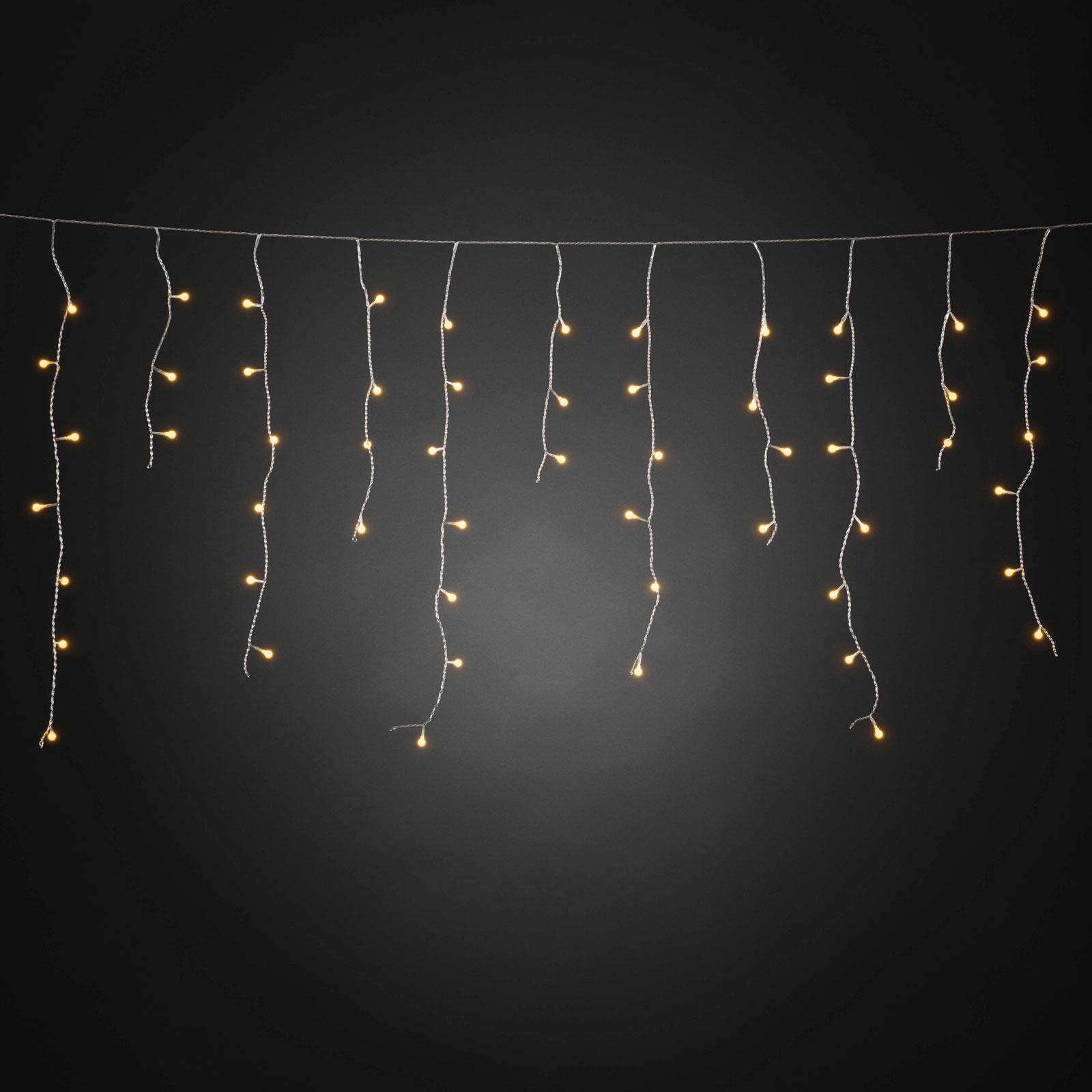 LED-draperi isregn, kan styras via app