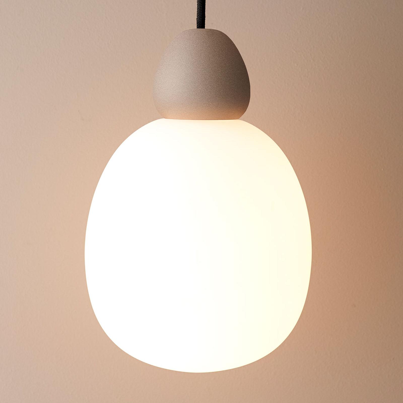Szklana lampa wisząca Buddy zawieszenie piaskowe