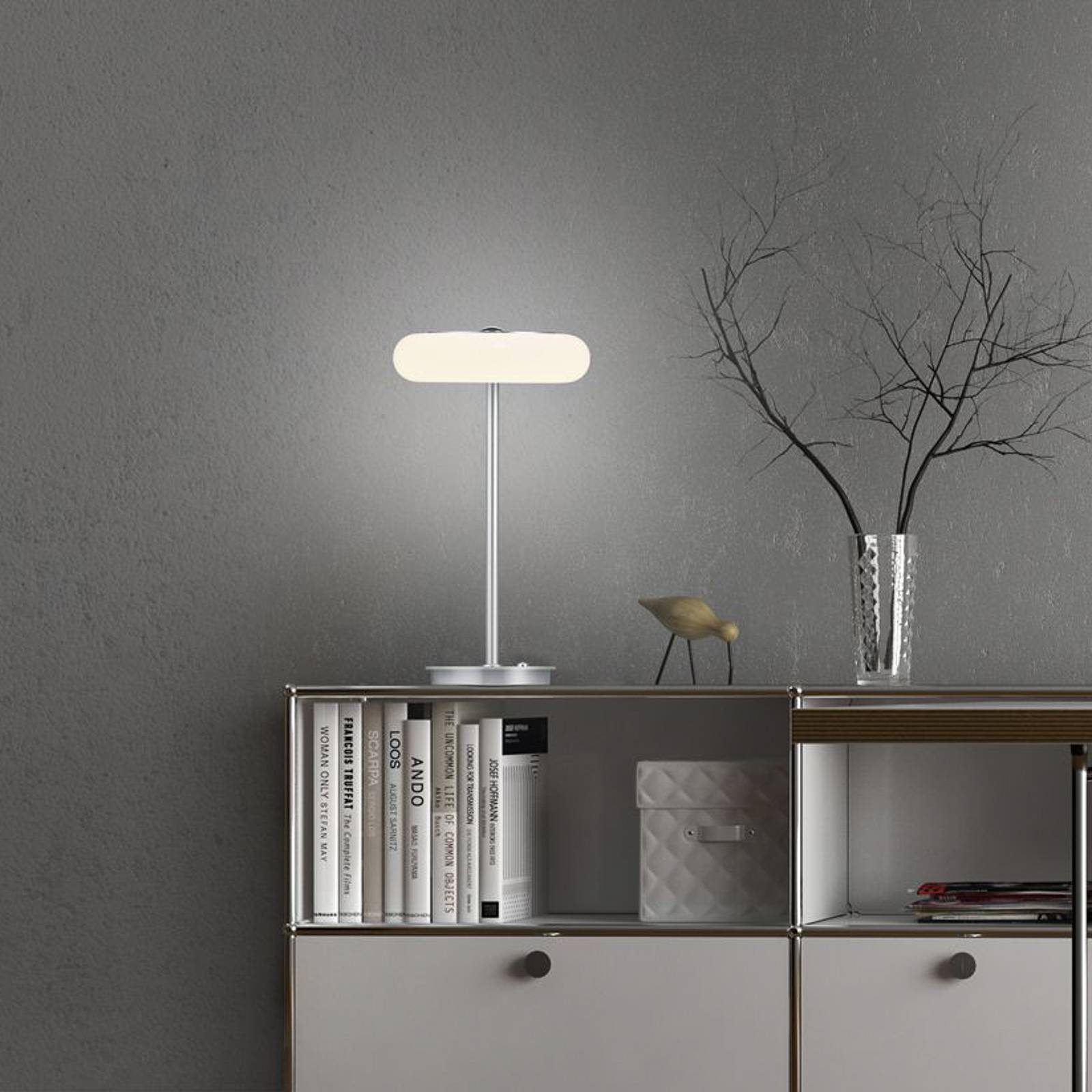 BANKAMP Centa LED-Tischleuchte, nickel