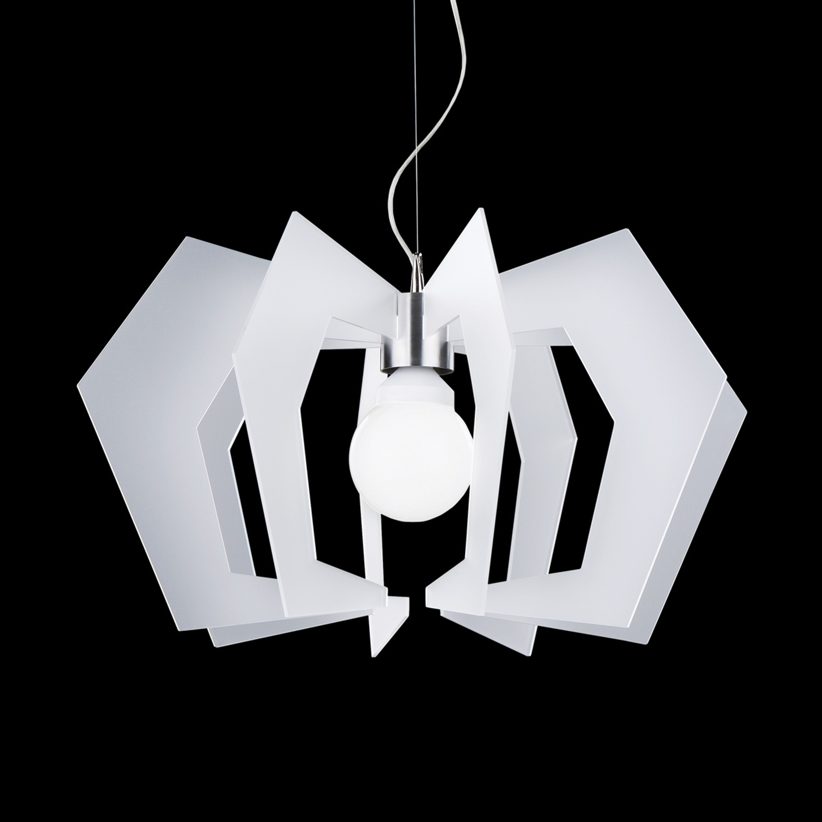 Innovatieve design-hanglamp Spider, wit