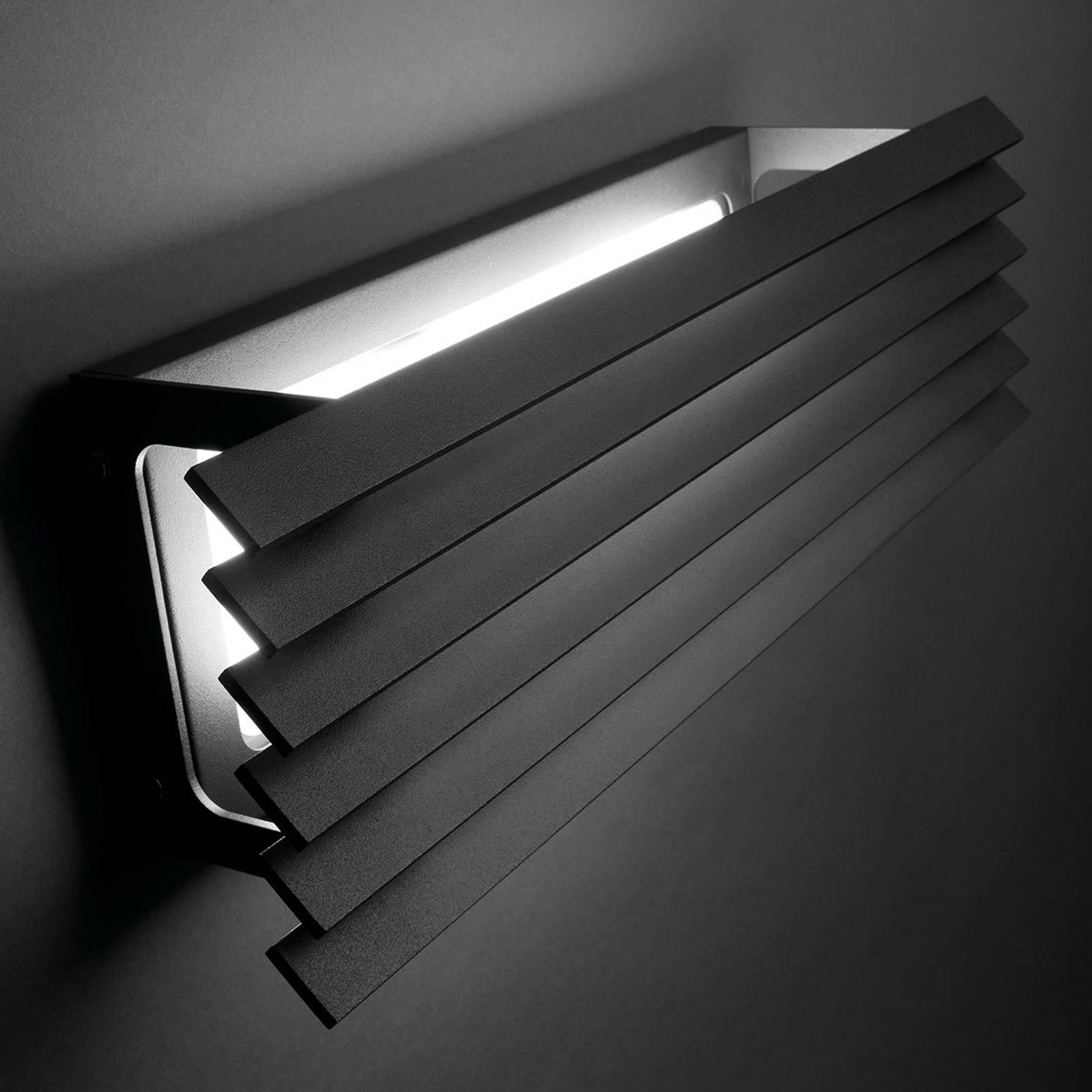 Bover Lineana H - LED buitenwandlamp met lamellen