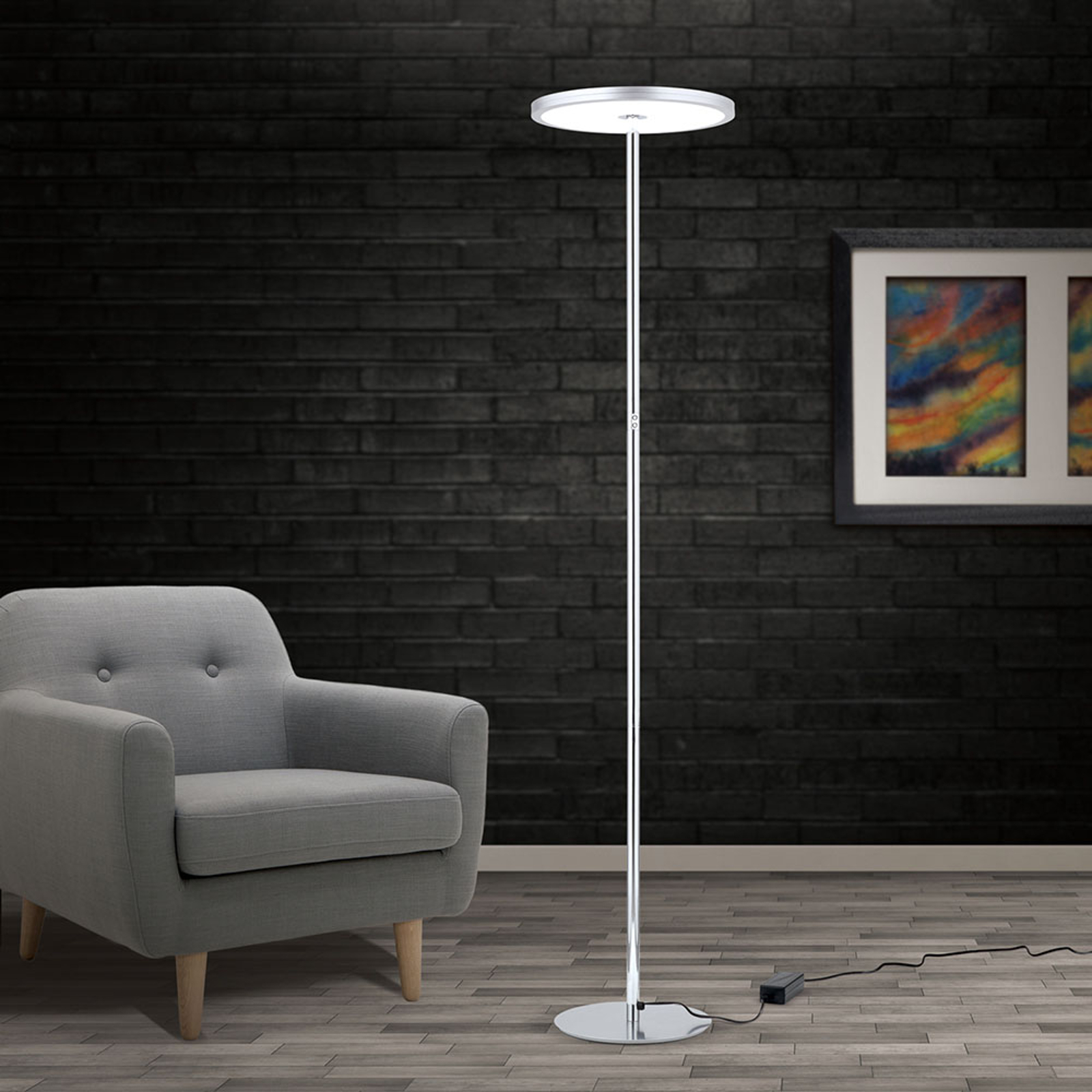 Lampadaire LED Greg, dimmable