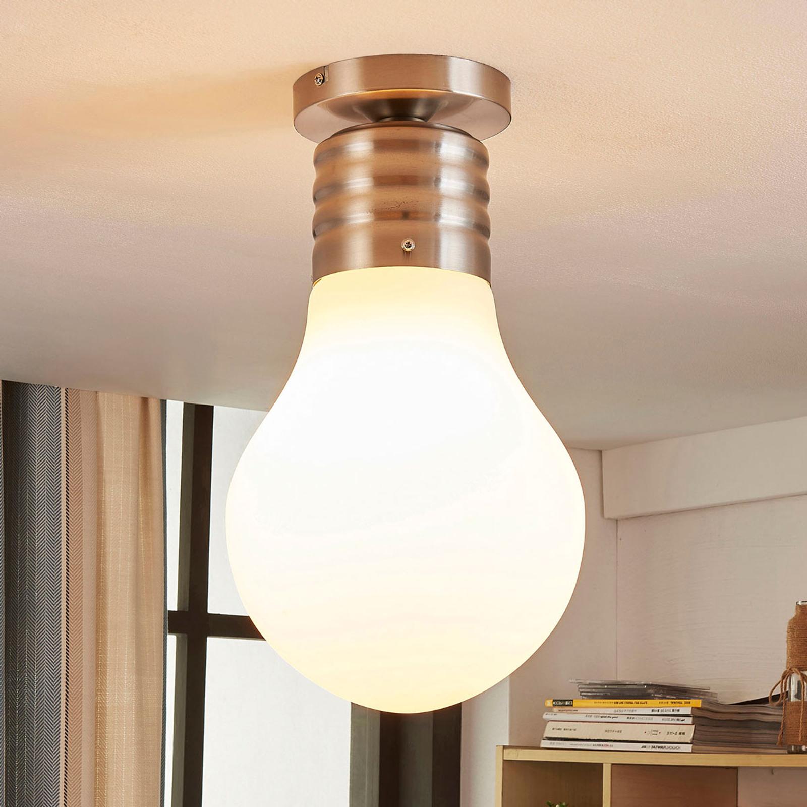 LED-taklampe Bado med glødepæreform, easydim