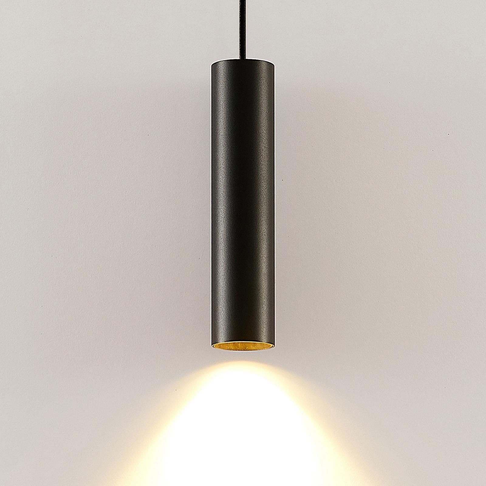 Arcchio Ejona závěsné světlo, výška 27 cm, černá