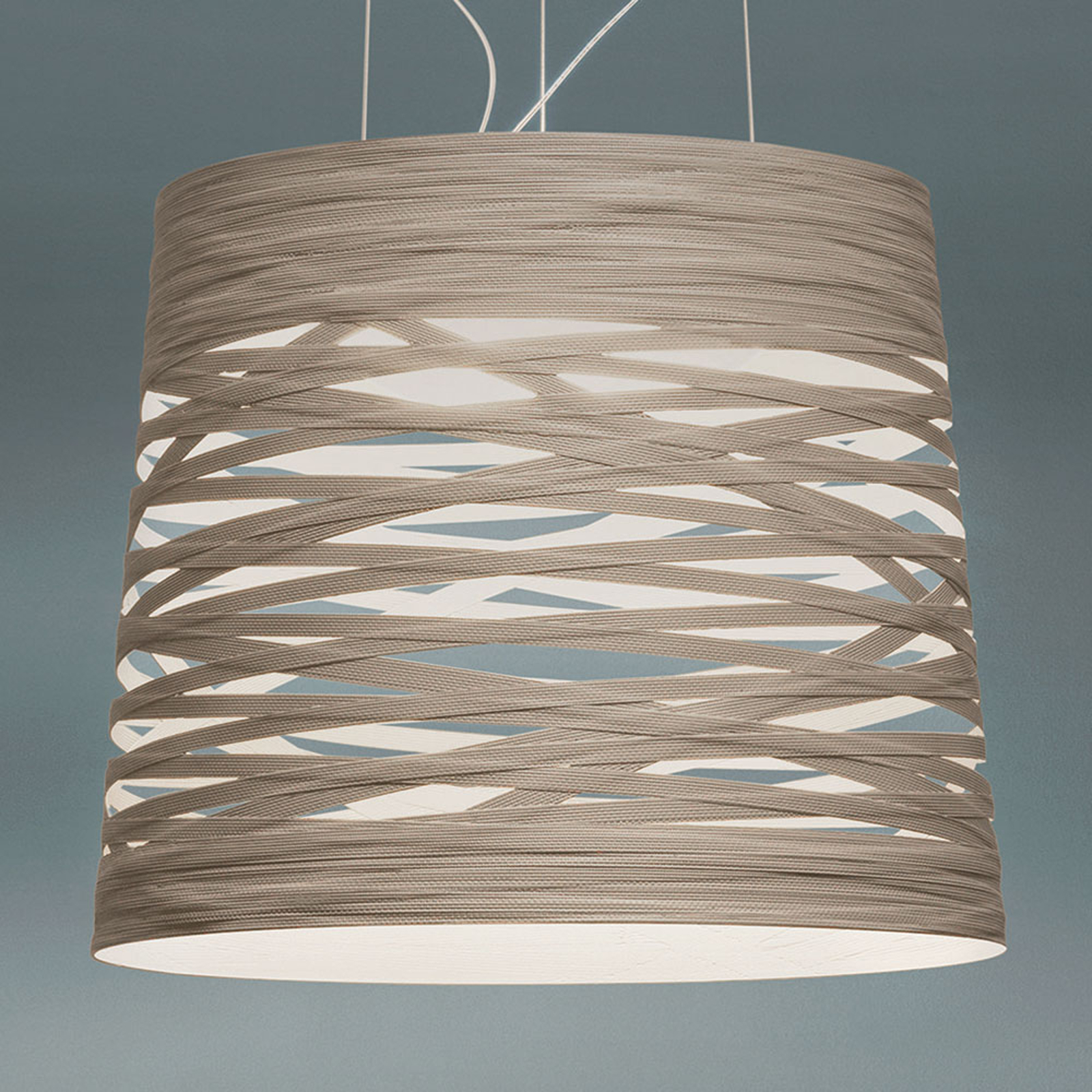Foscarini Tress grande LED-Hängeleuchte, weiß