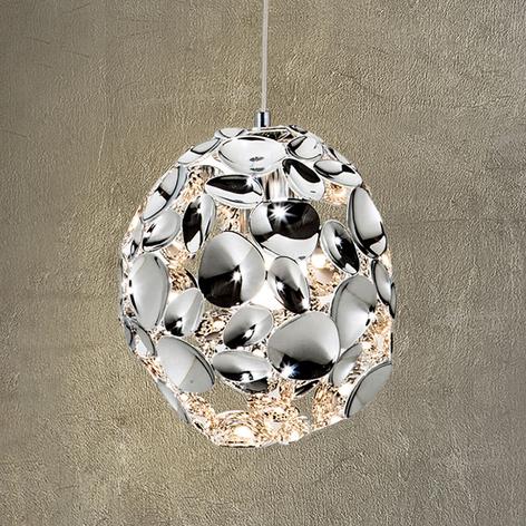 Narisa-LED-riippuvalaisin, Ø 18 cm, kromia