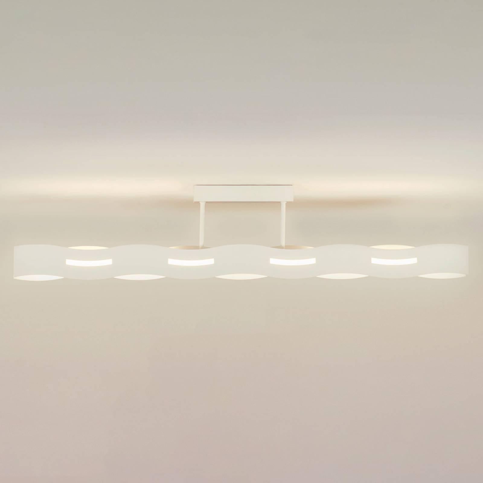 LED-Deckenleuchte Wave weiß