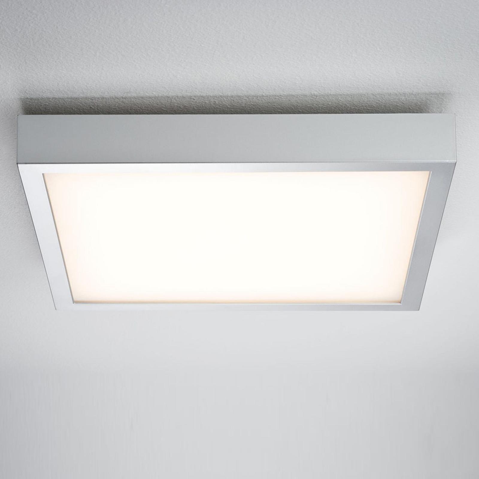 Paulmann Lunar LED panel, hranatý, chrom, 40x40cm