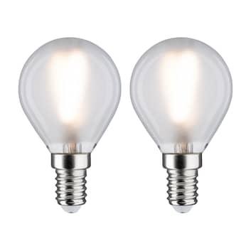 Paulmann LED goccia E14 3W 2.700K satinato set 2x