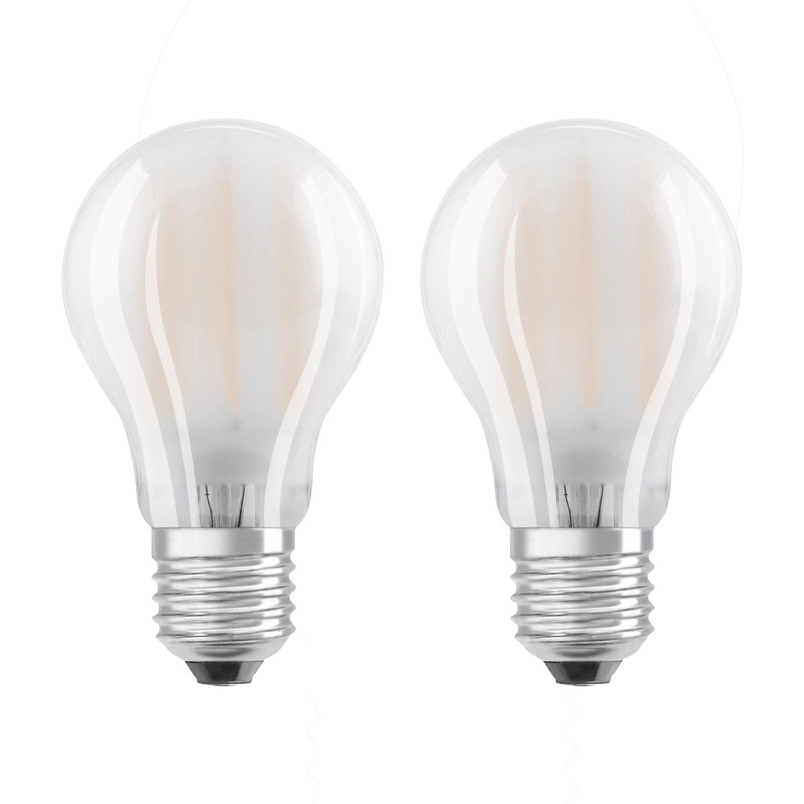 OSRAM LED-pære E27 7 W, varmhvit, 2-pakk