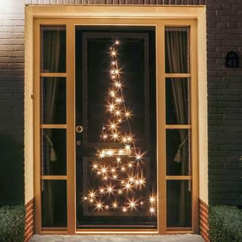 Silueta árbol Navidad Fairybell® para puerta 2,10m