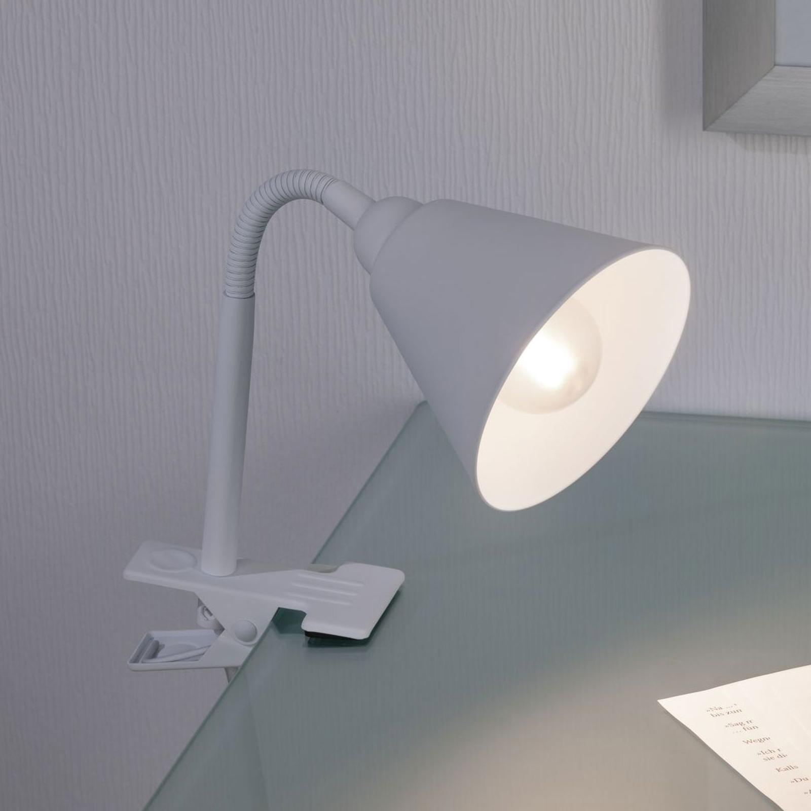 Paulmann Vitis klemlamp, wit