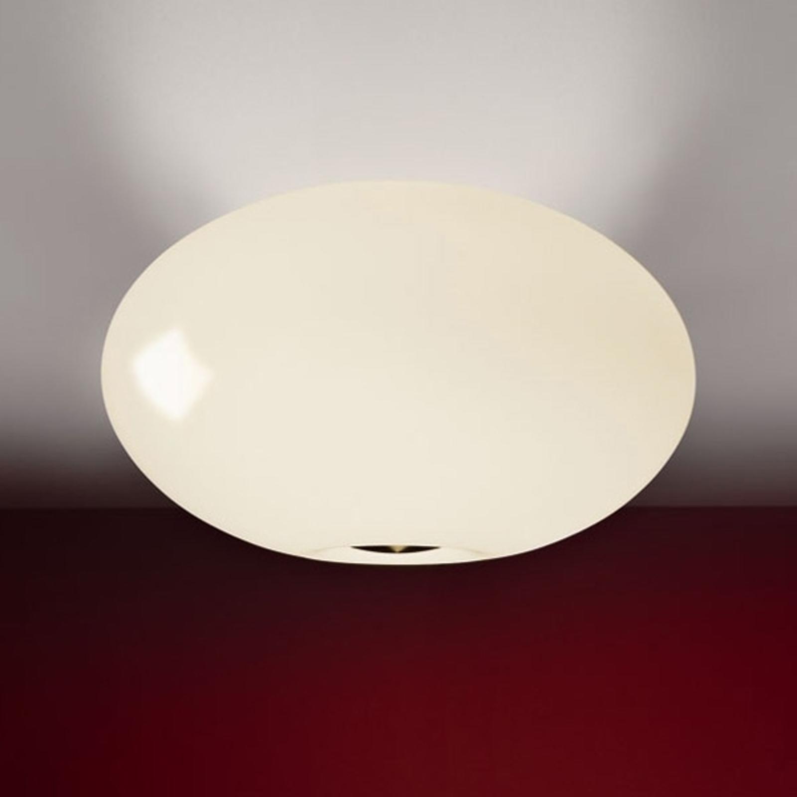 Fraaie plafondlamp AIH, 38 cm, crème glanzend