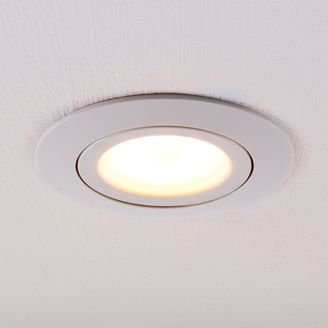 LED-inbyggnadslampa Andrej, rund, vit