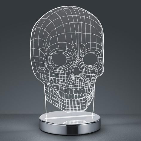 Lichtfarbe umschaltbar - LED-Tischleuchte Skull