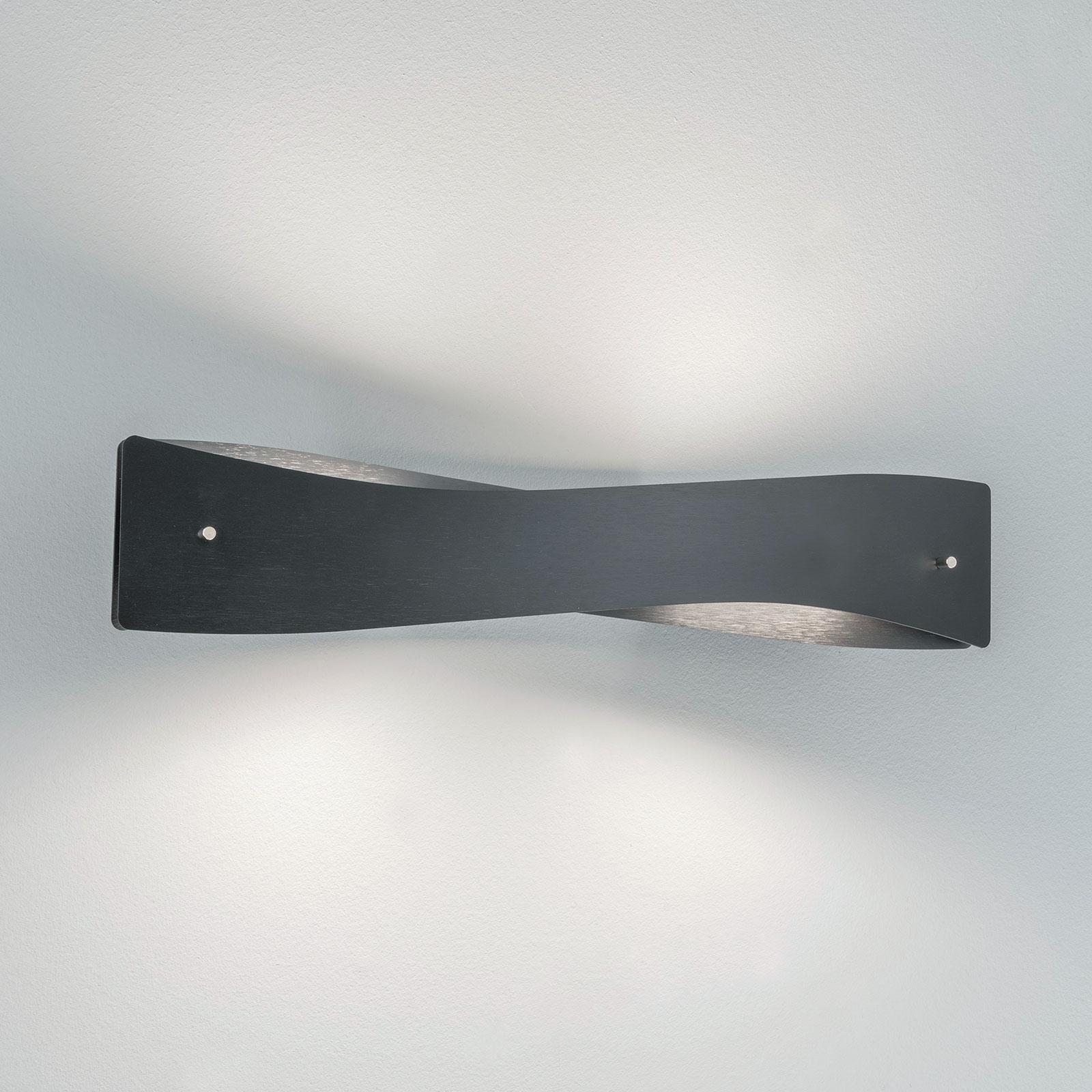 Lucande Lian LED wandlamp, zwart, aluminium