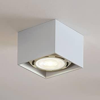 Foco de techo LED Mabel angular, blanco