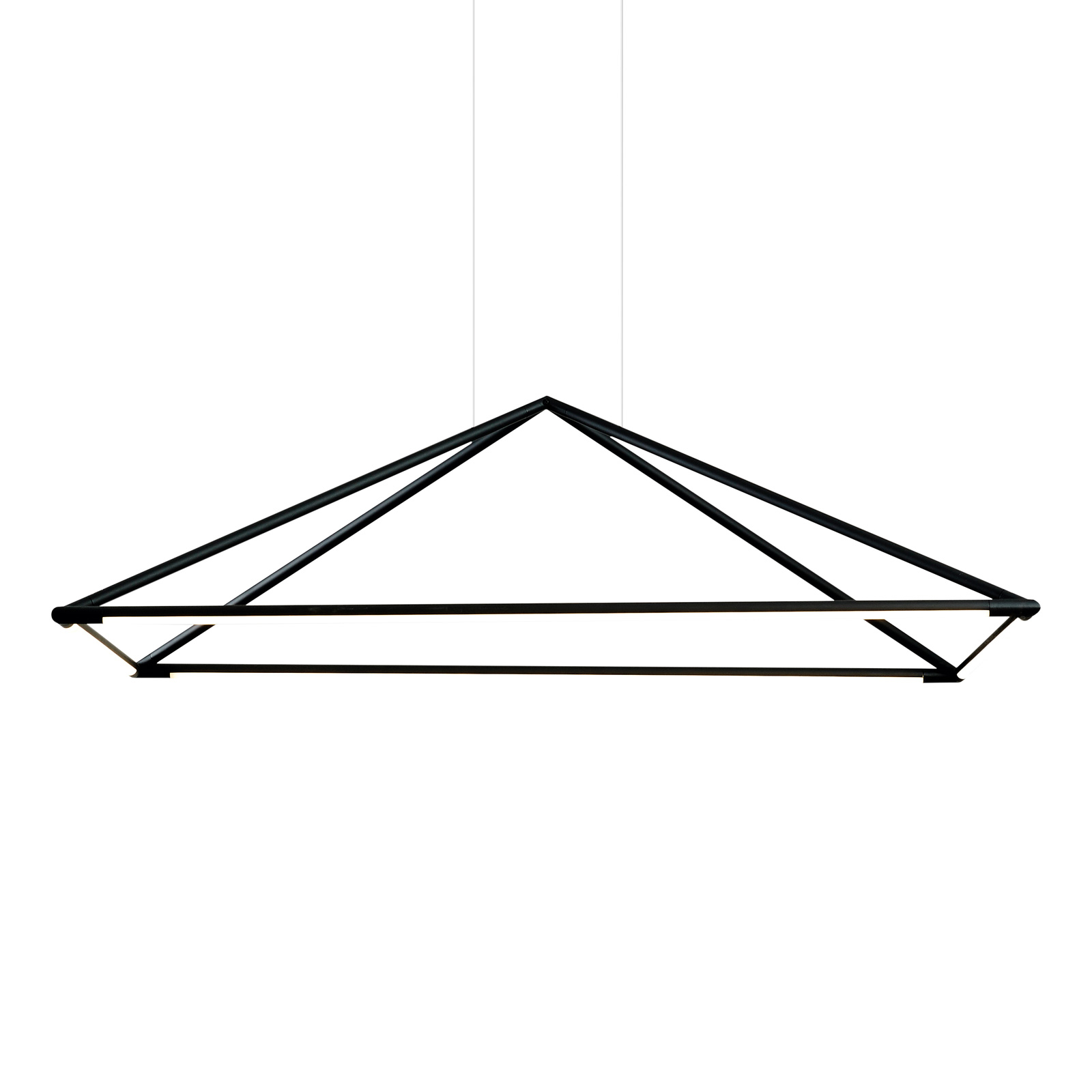 Grok Tubs LED-hængelampe i mat sort 120 x 80 cm