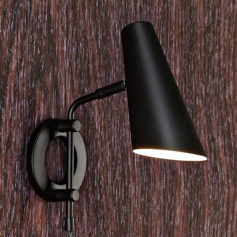 Lampa ścienna Cal z przełącznikiem i wtyczką