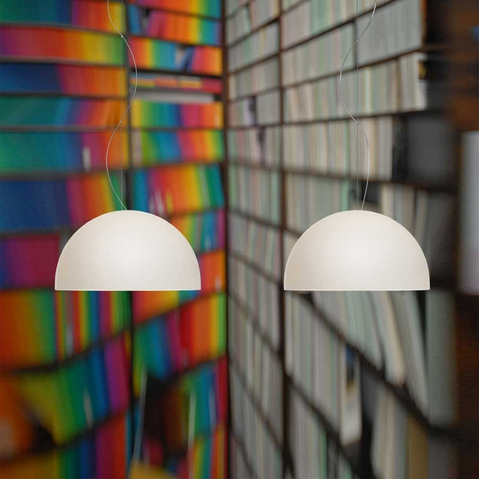 Double bulb pendant light BOWL_2000265_1