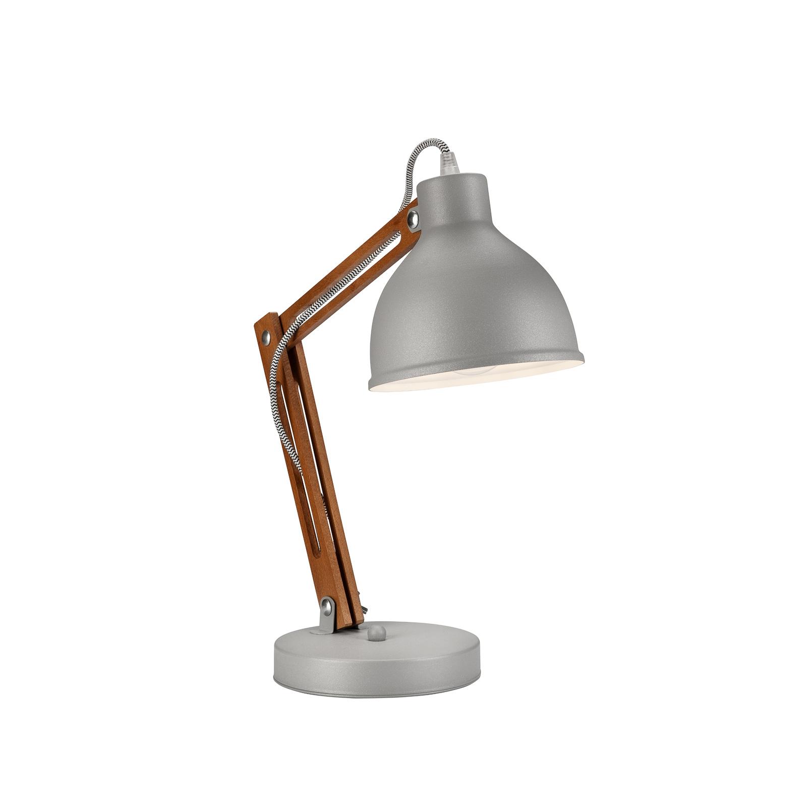 Skansen bordlampe, justerbar, grå