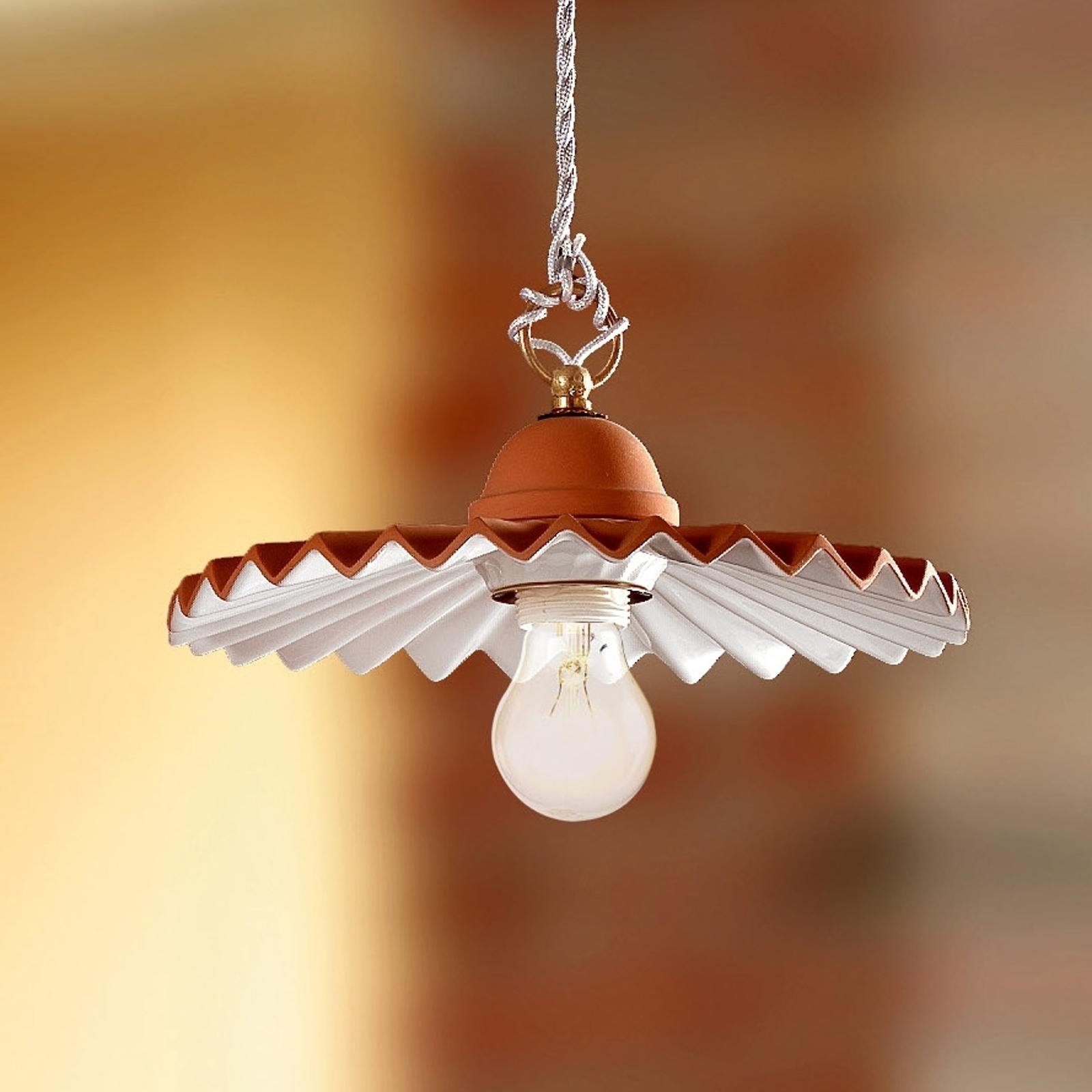 Hængelampe ARGILLA i landhusstil, 28 cm