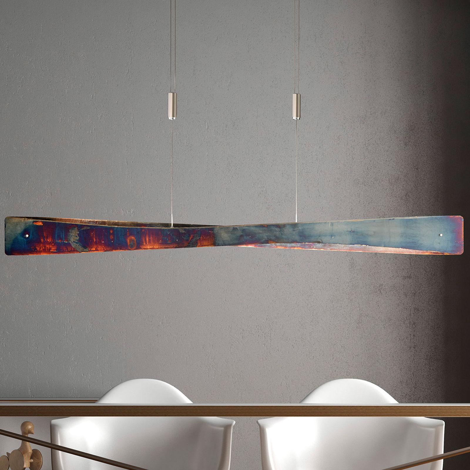 Lucande Lian LED-Hängelampe, gold oxidiert