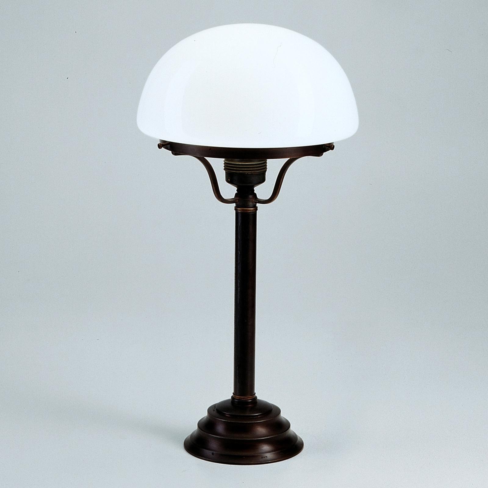 Bordlampen Frank med antik-rustikalt udseende