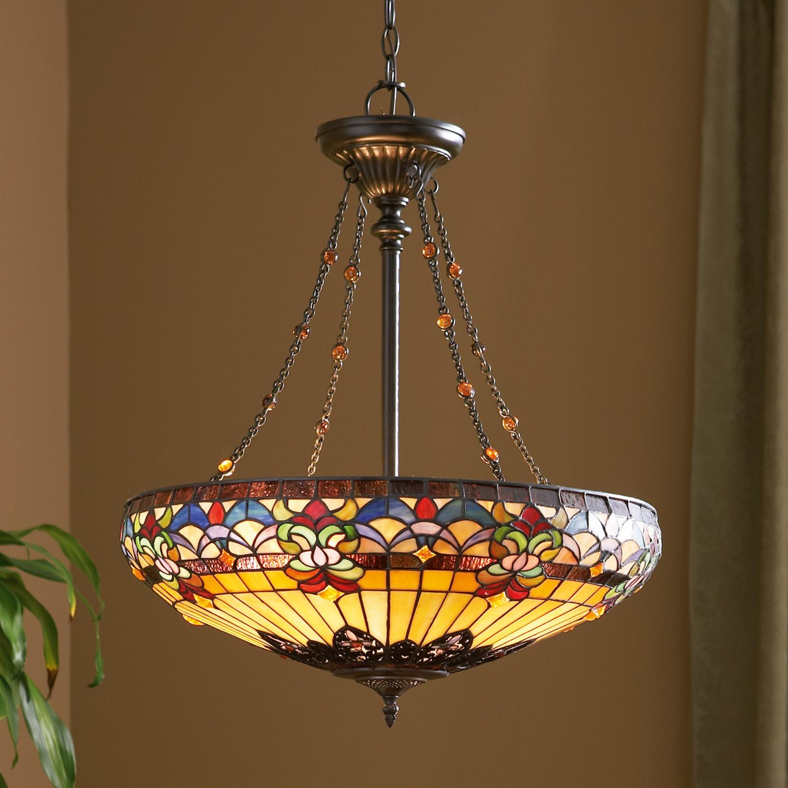 Dettagliata lampada a sospensione Belle Fleur