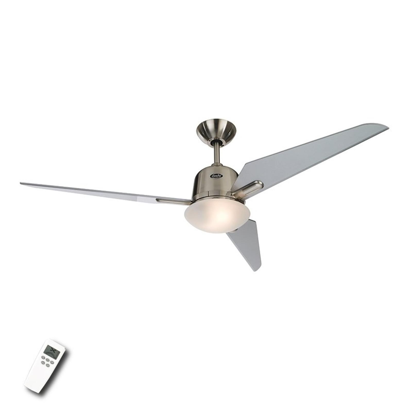 Plafondventilator Eco Aviatos, zilver, 132 cm