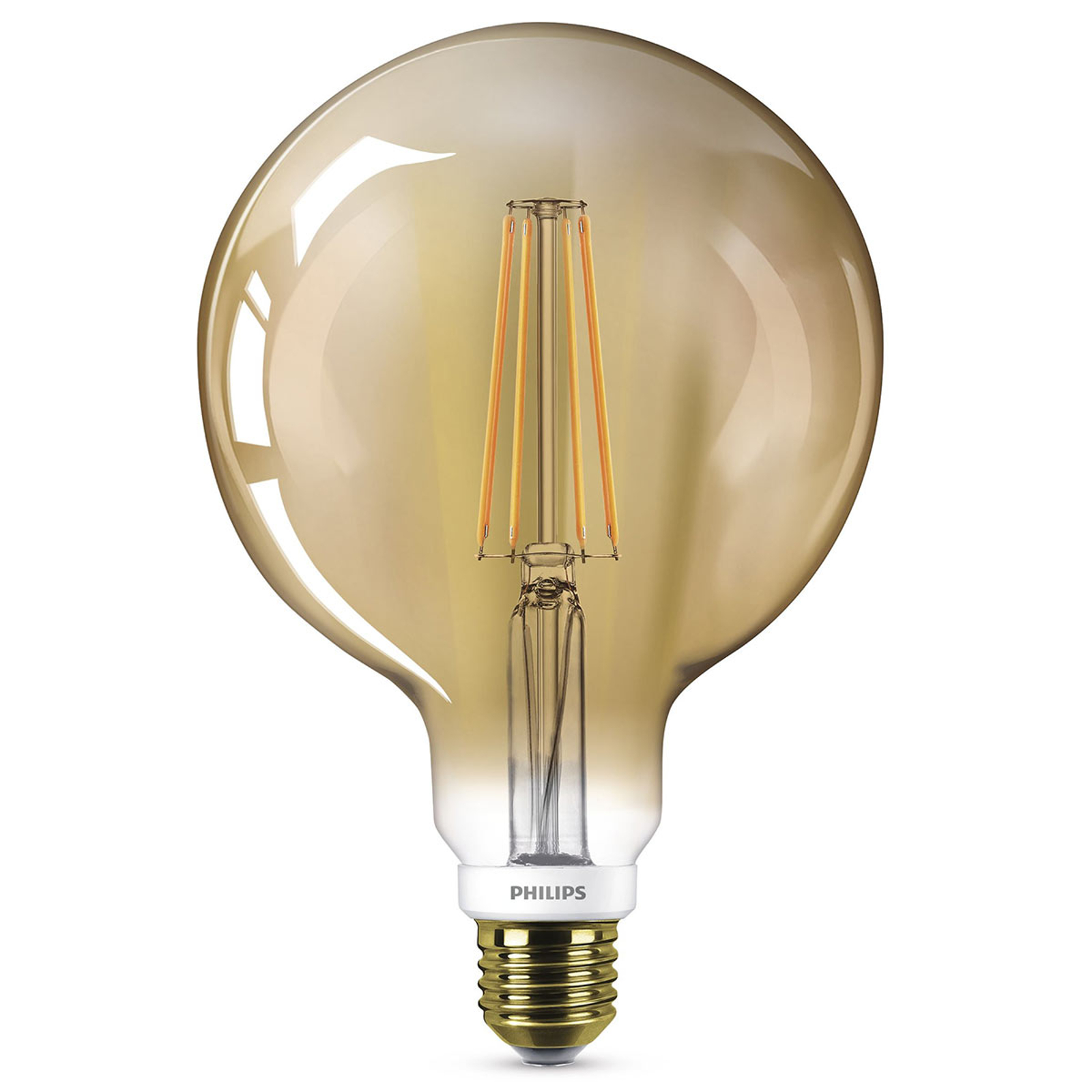 Philips LED-Globelampe E27 G95 5,5W 2.000K gold