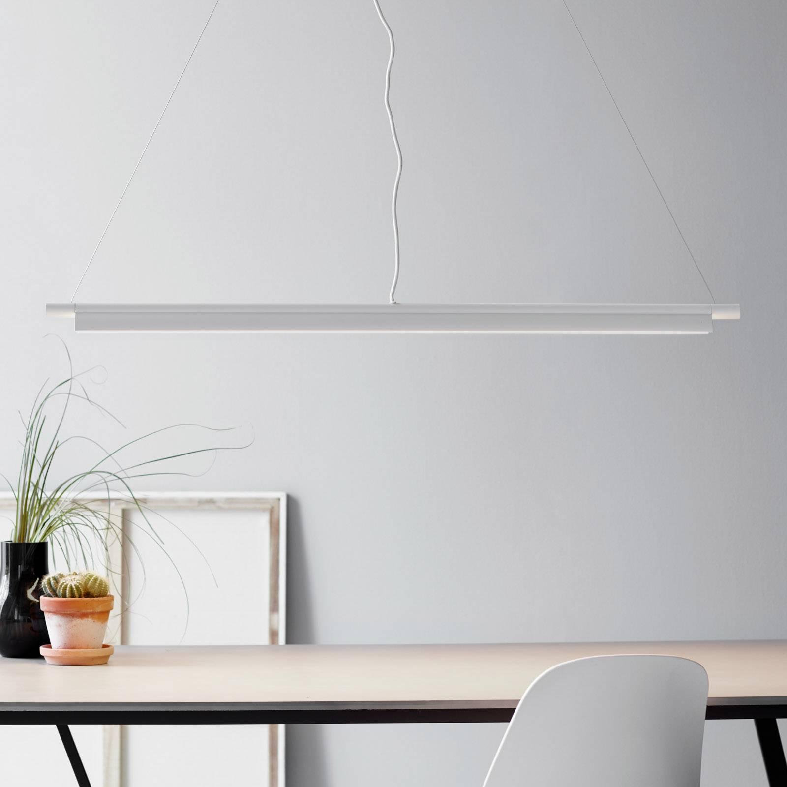 Billede af Aflang LED-pendellampe Space B hvid