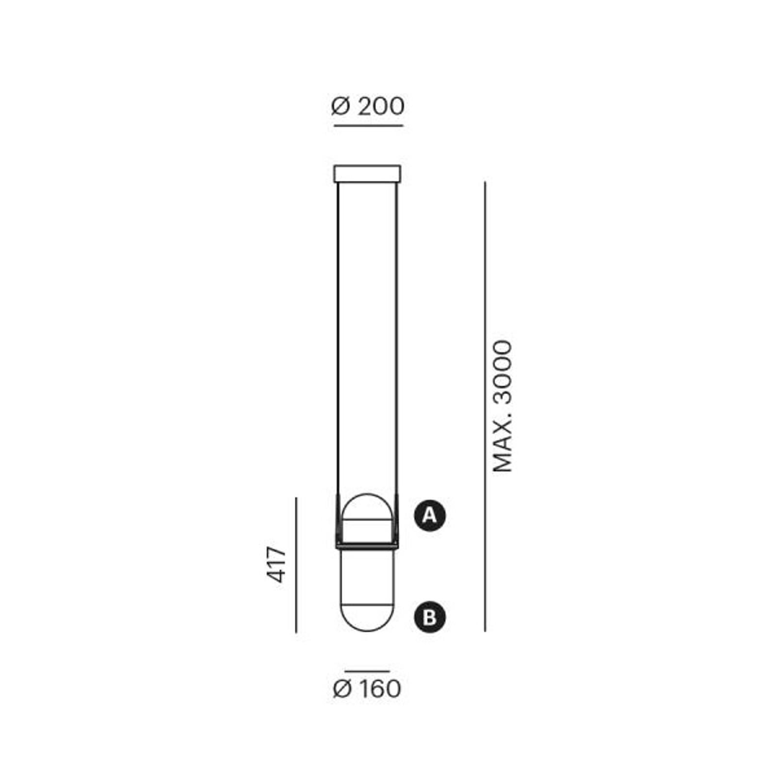LOUM Pille lampa wisząca LED różowa/szara