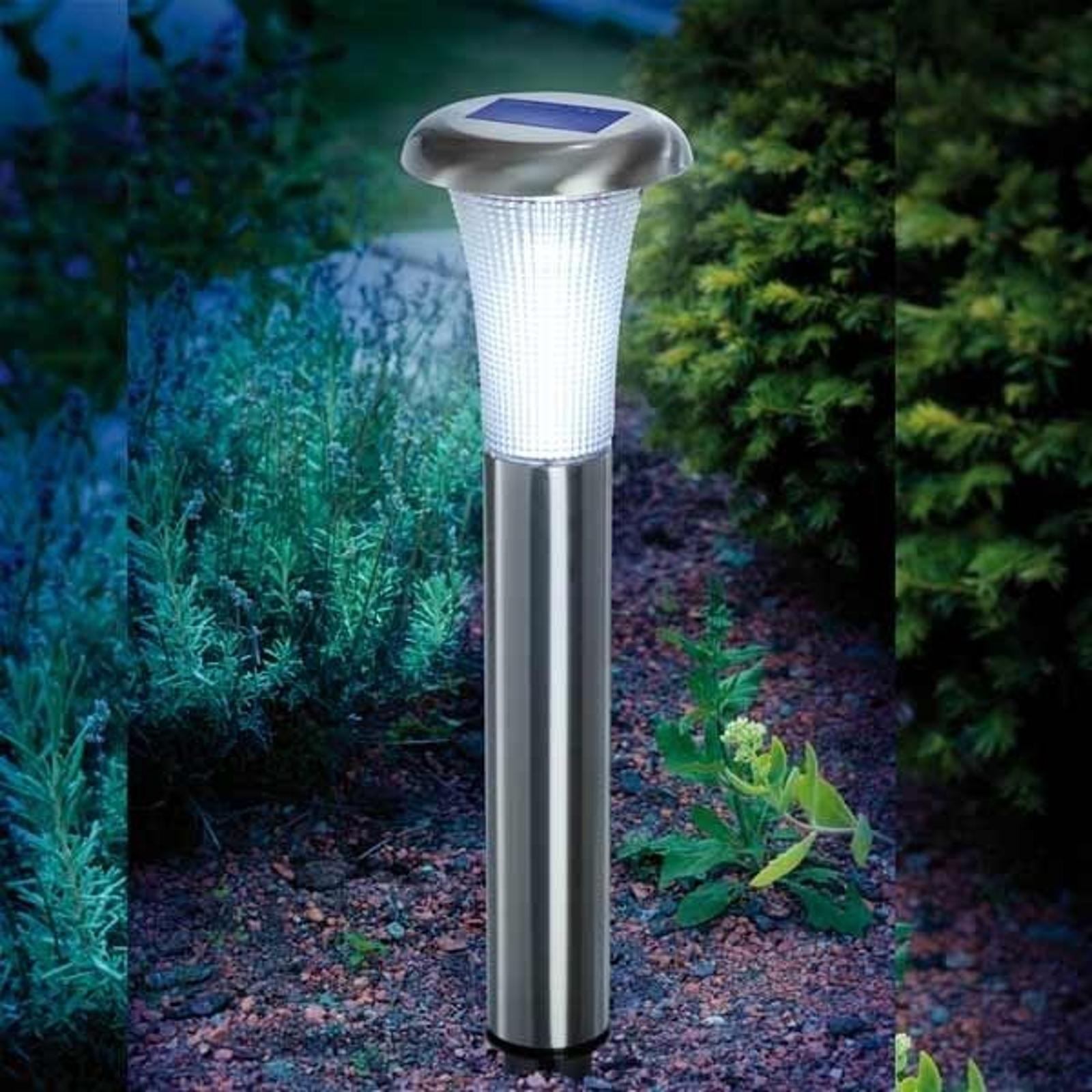Vesuv solcellelampe i rustfritt stål