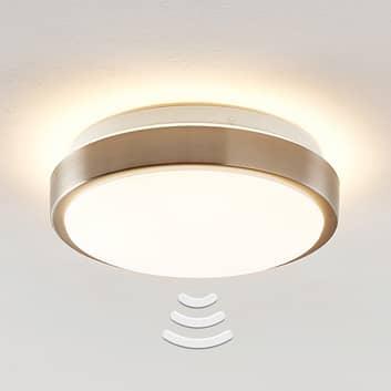 Lindby Camille LED-sensor plafondlamp Ø26cm nikkel