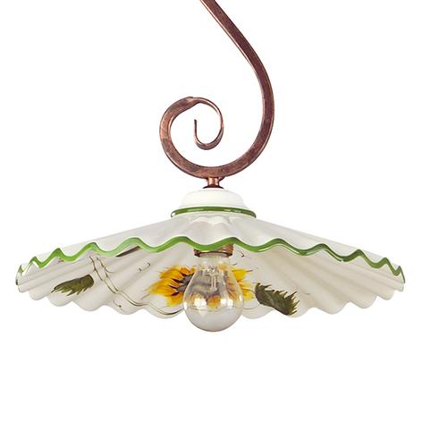 Lámpara colgante Rusticana, suspensión forma de S