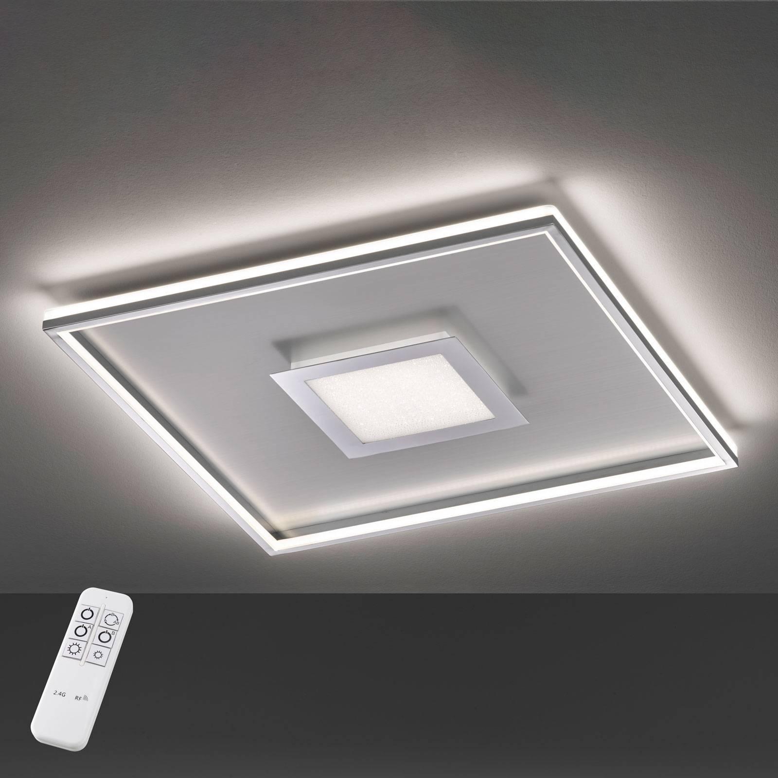 LED plafondlamp Bug vierkant, chroom 40x40cm