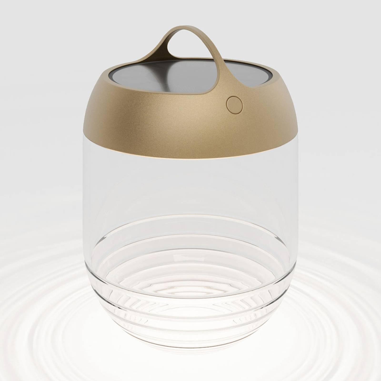 IP44.de aqu M LED-Solarleuchte, Höhe 35 cm gold