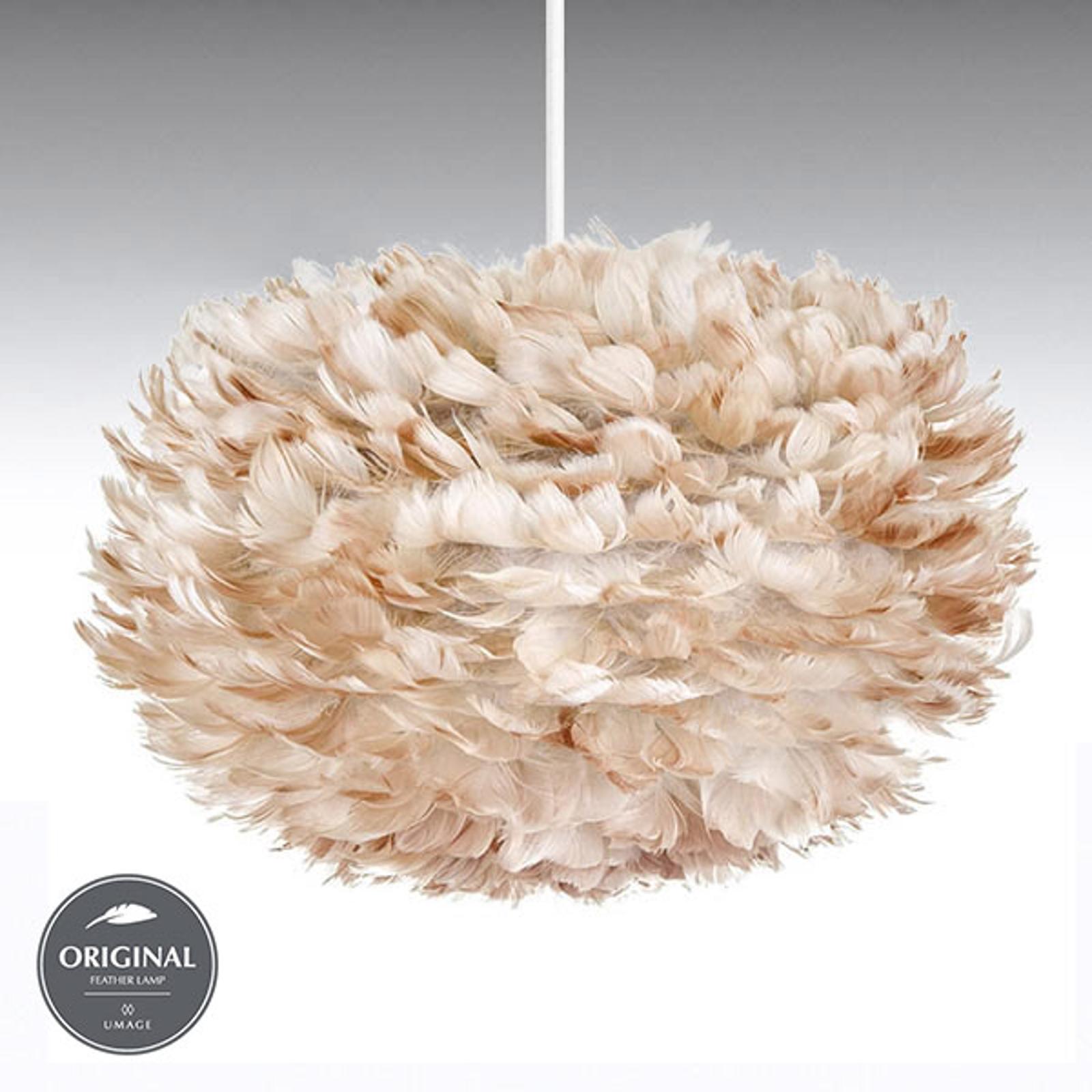 Jasnobrązowy klosz – lampa wisząca Eos medium