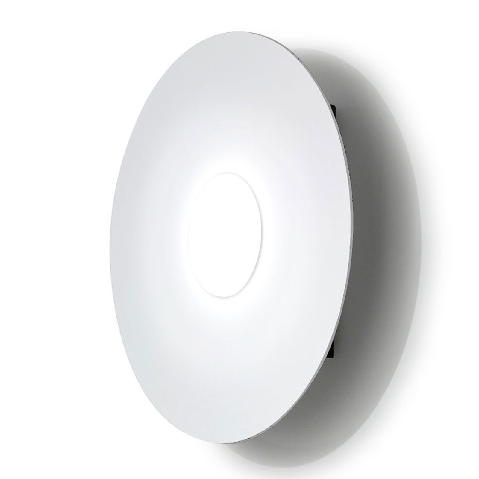 LED wandlamp Circle, wit, 1-lamp, dimbaar
