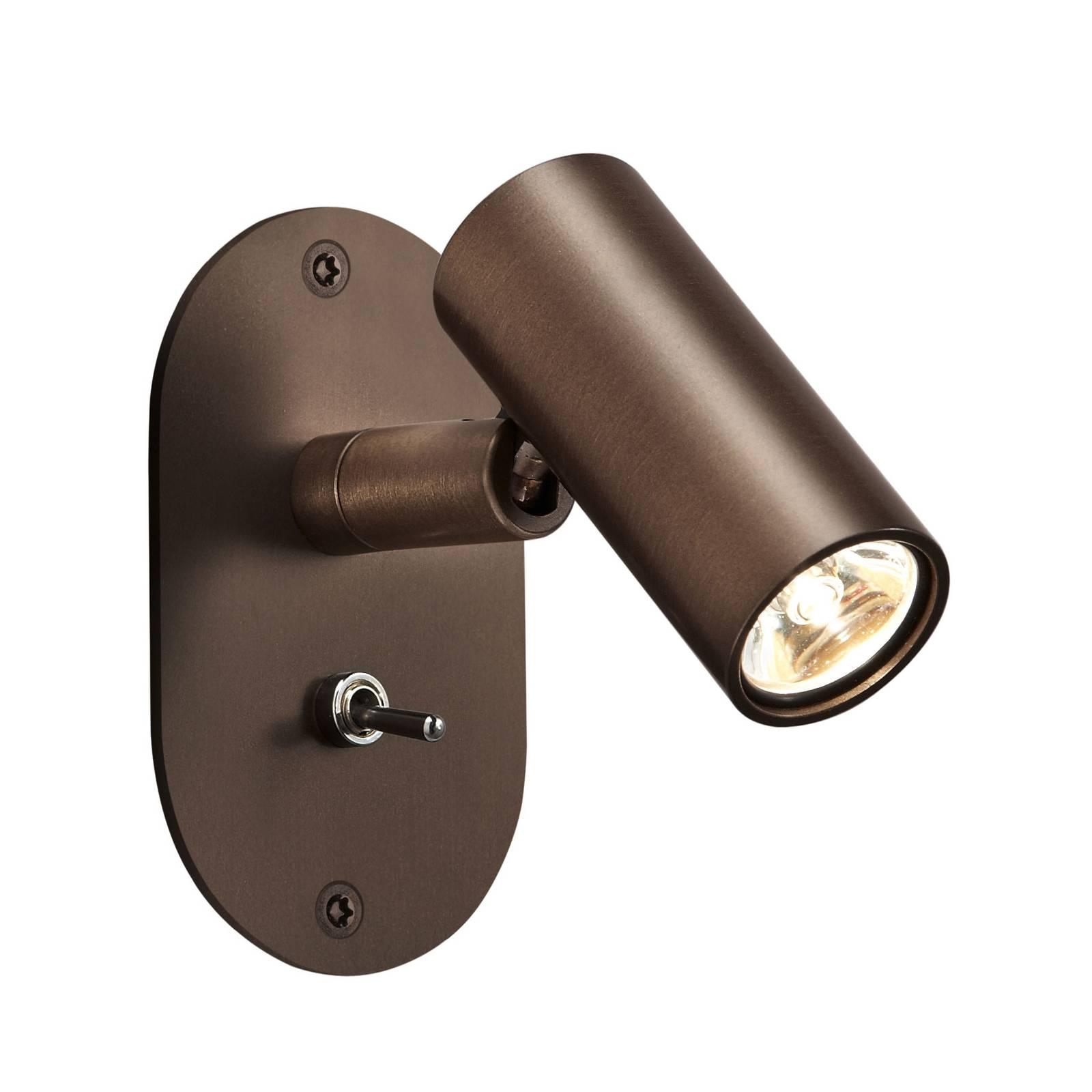 Baulmann 64.506 LED-Wandleuchte, rund, braun