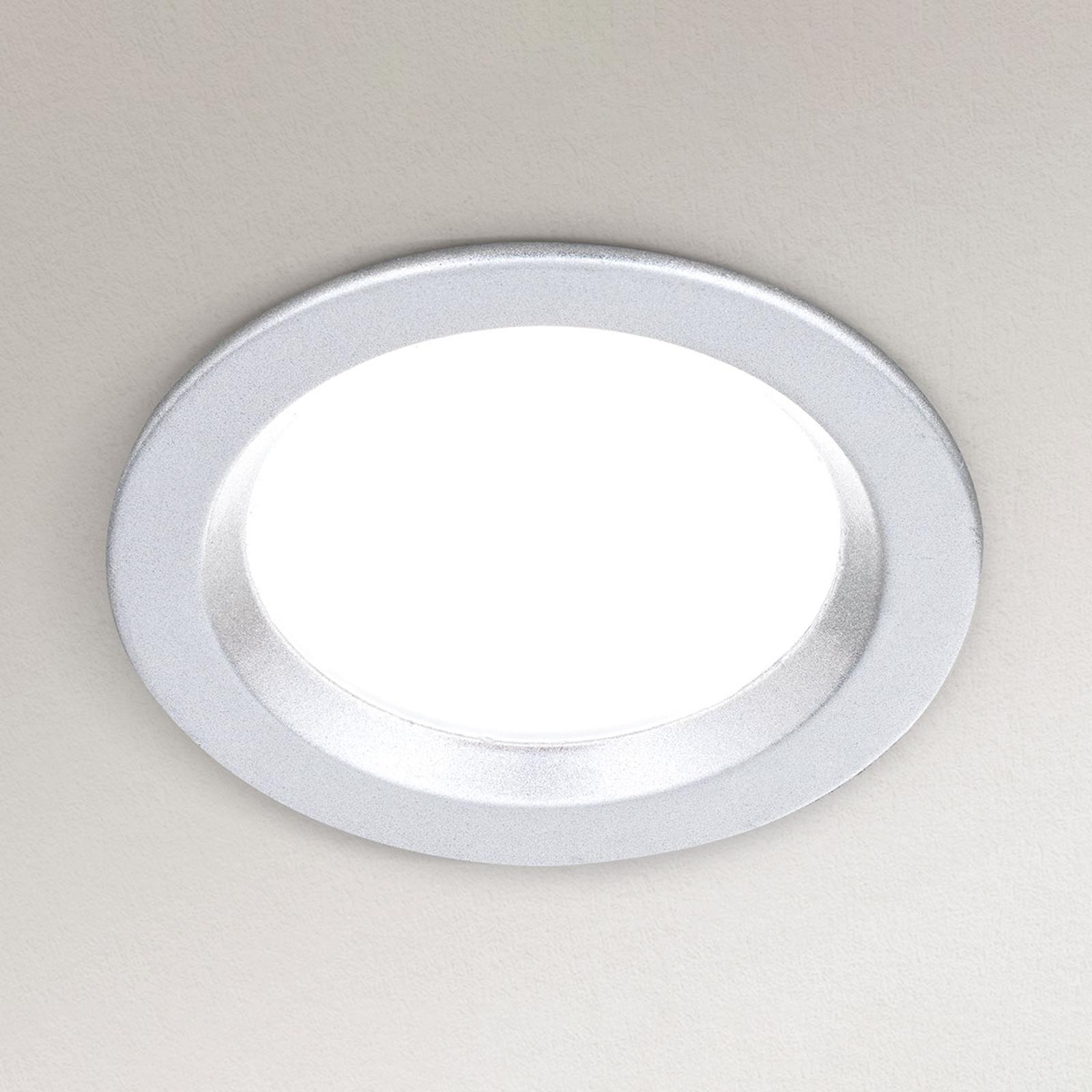 Lampe encastrée LED Spock dimmable Ø 9cm argenté